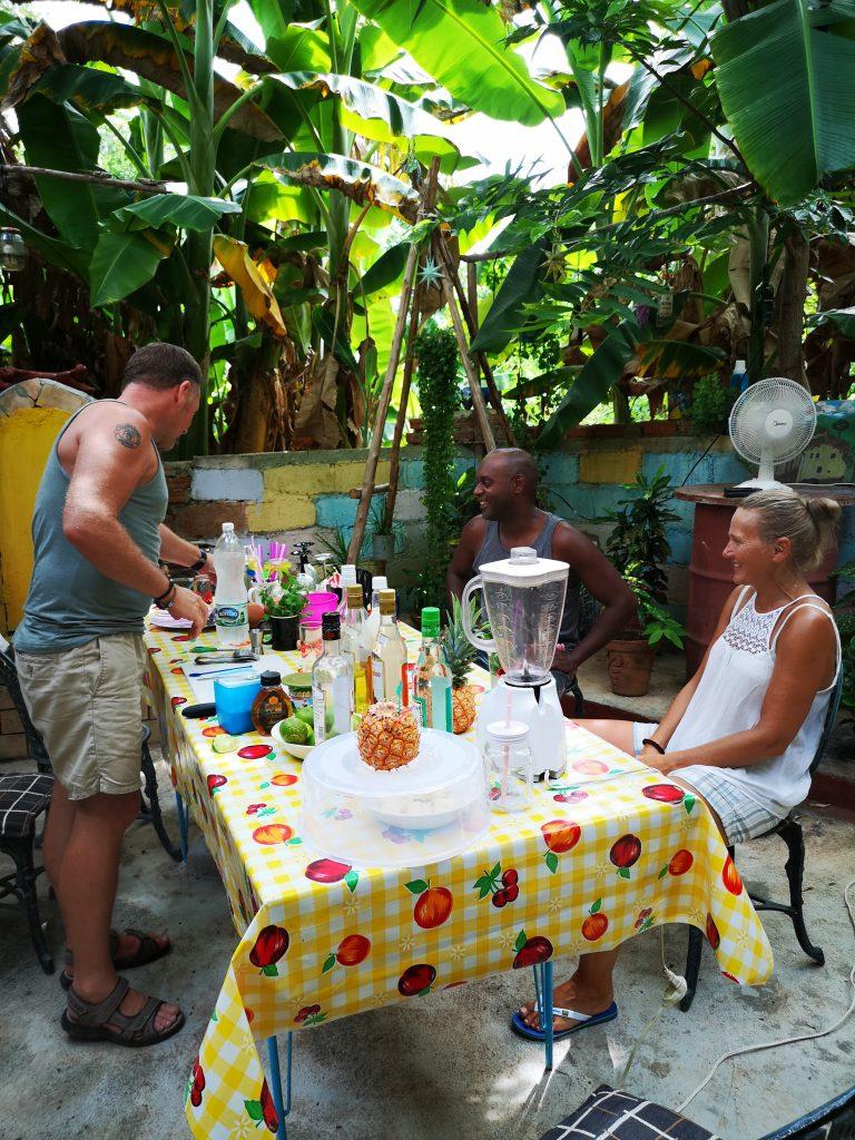 Cocktail kurs i gjestehuset vårt på Cuba