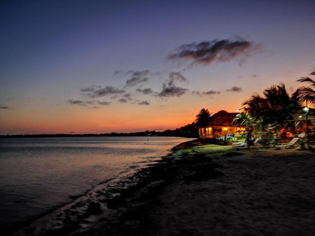 Playa Larga har nydelige solnedganger