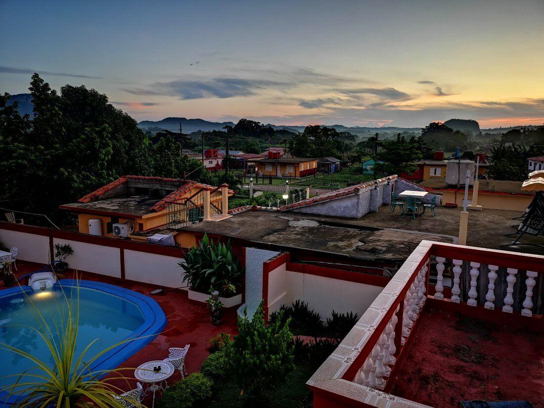 Overnatting i Vinales på Cuba
