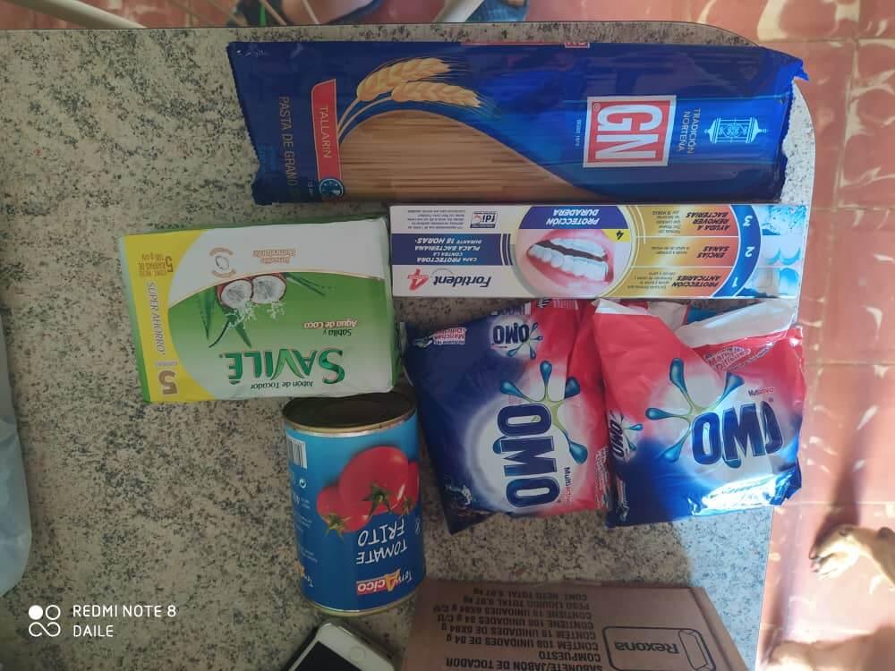 Varer kjøpt i MLC butikken på Cuba